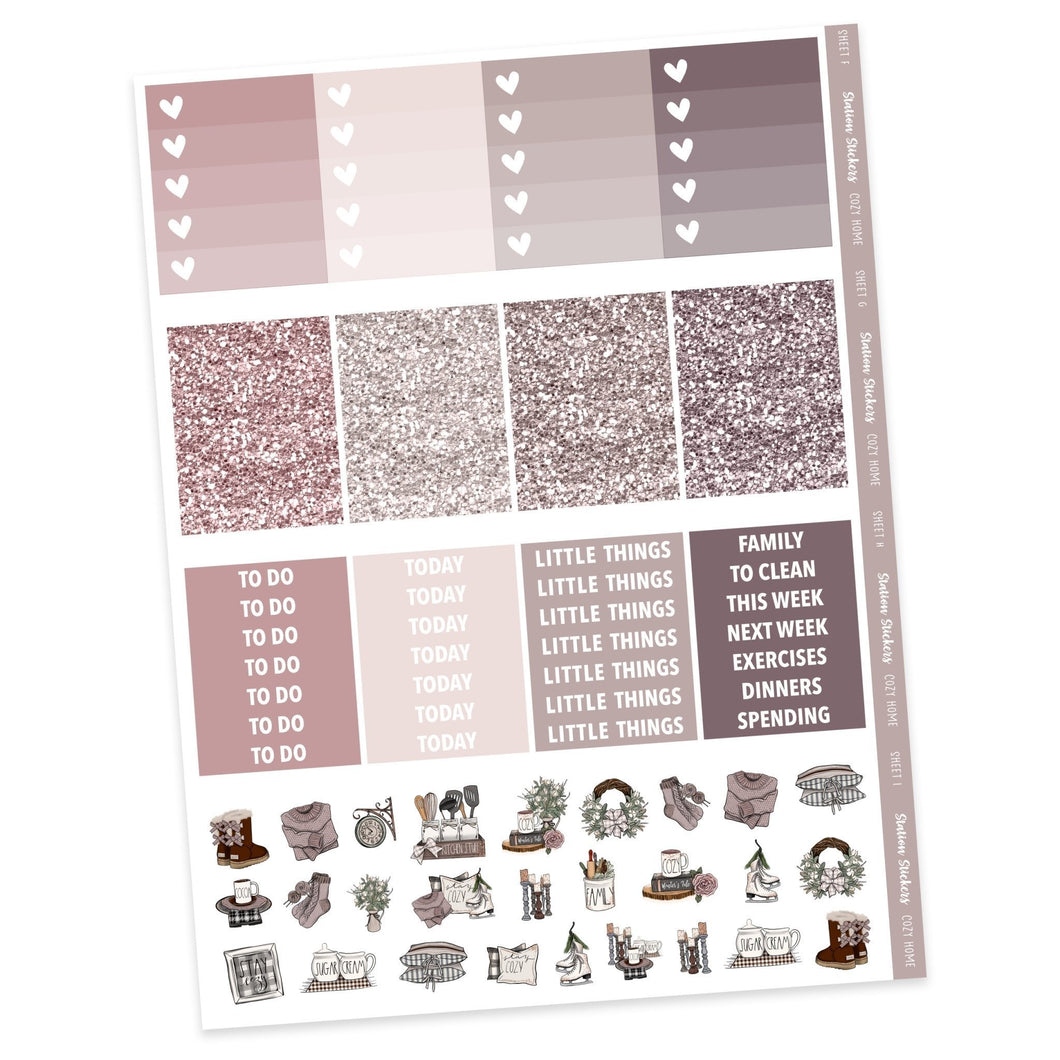 WEEKLY STICKER KIT • COZY HOME (ADD ON ONLY) - Station Stickers