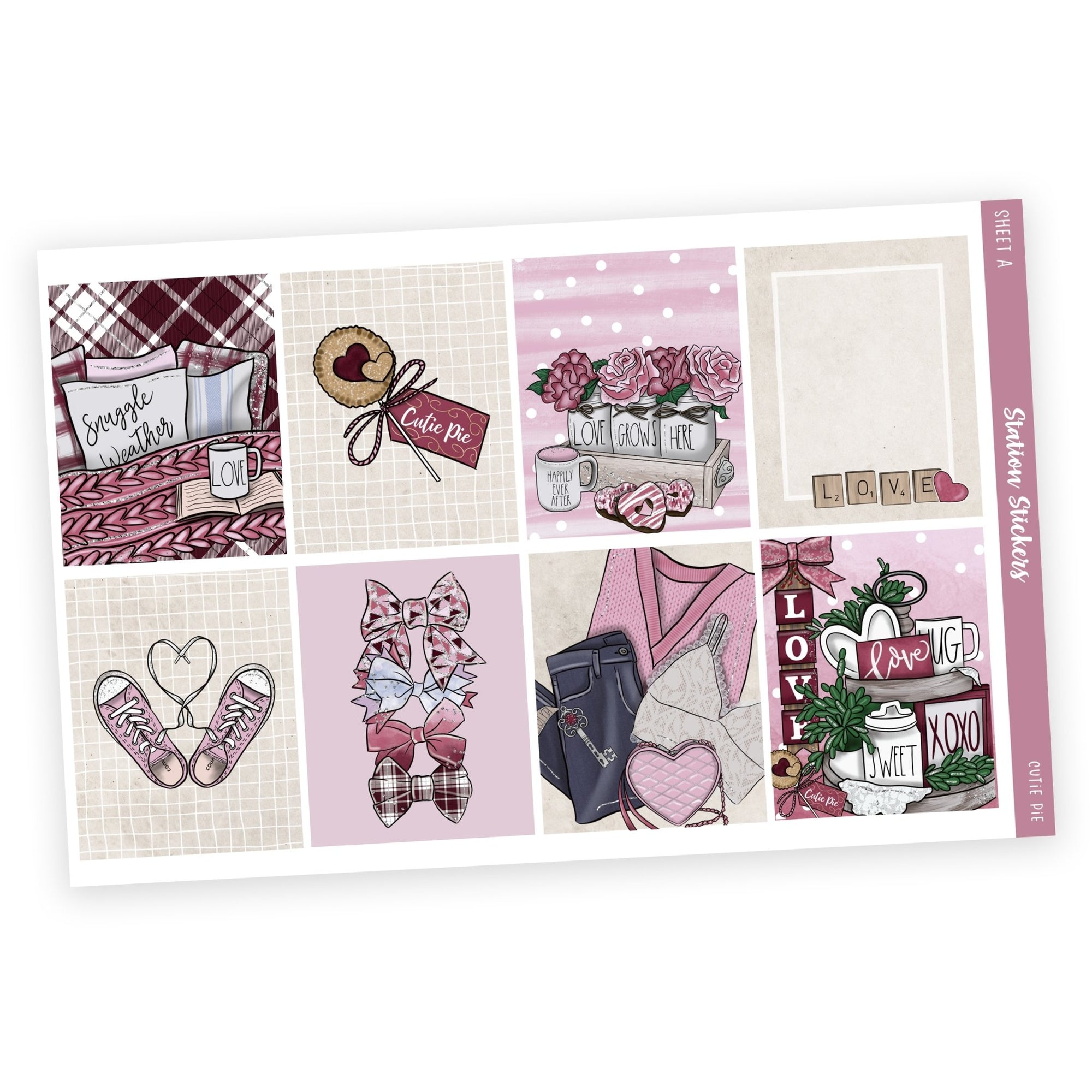 WEEKLY STICKER KIT • CUTIE PIE-Station Stickers