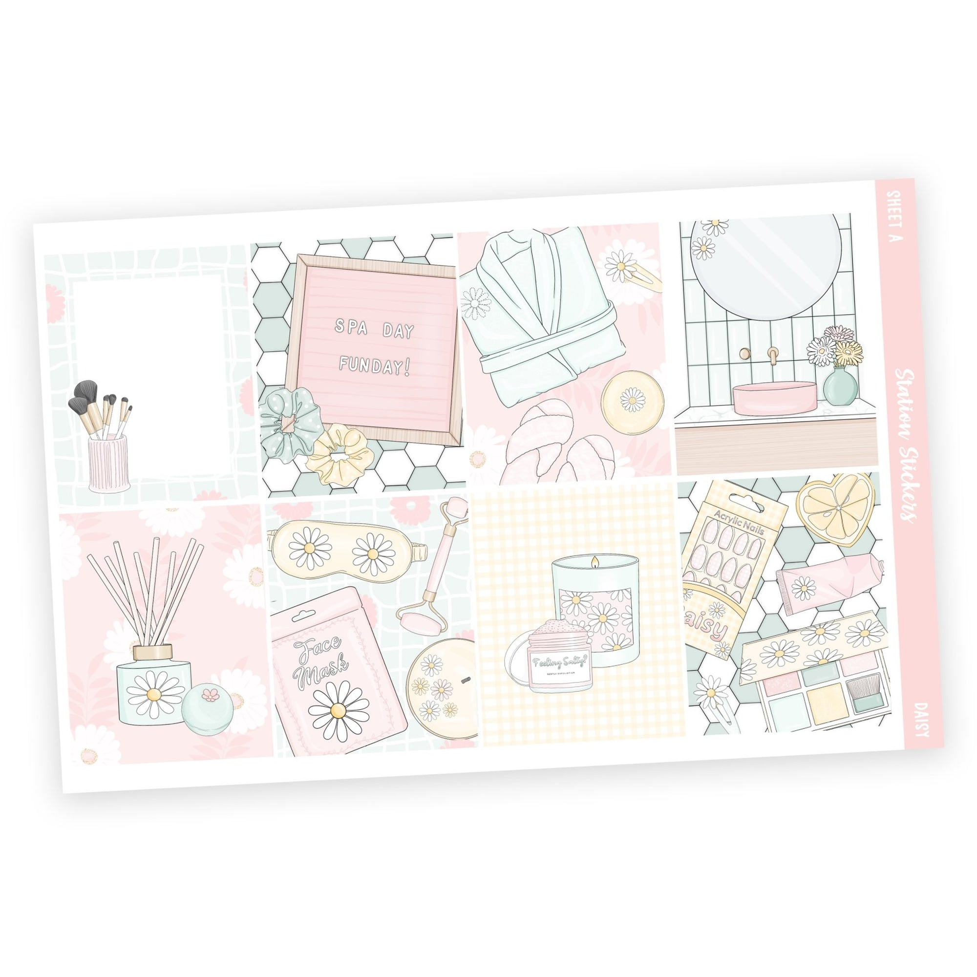 WEEKLY STICKER KIT • DAISY - Station Stickers