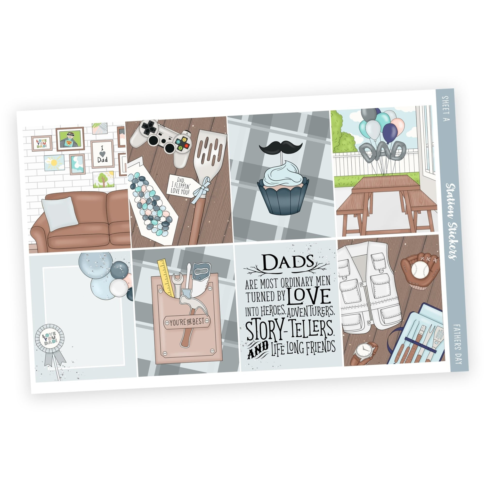 WEEKLY STICKER KIT • FATHERS DAY - Station Stickers
