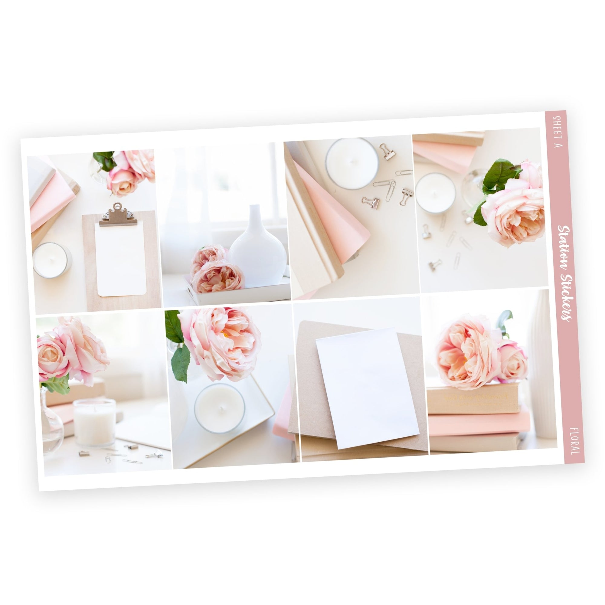 WEEKLY STICKER KIT • FLORAL-Station Stickers