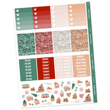 Load image into Gallery viewer, WEEKLY STICKER KIT • GINGERBREAD - Station Stickers