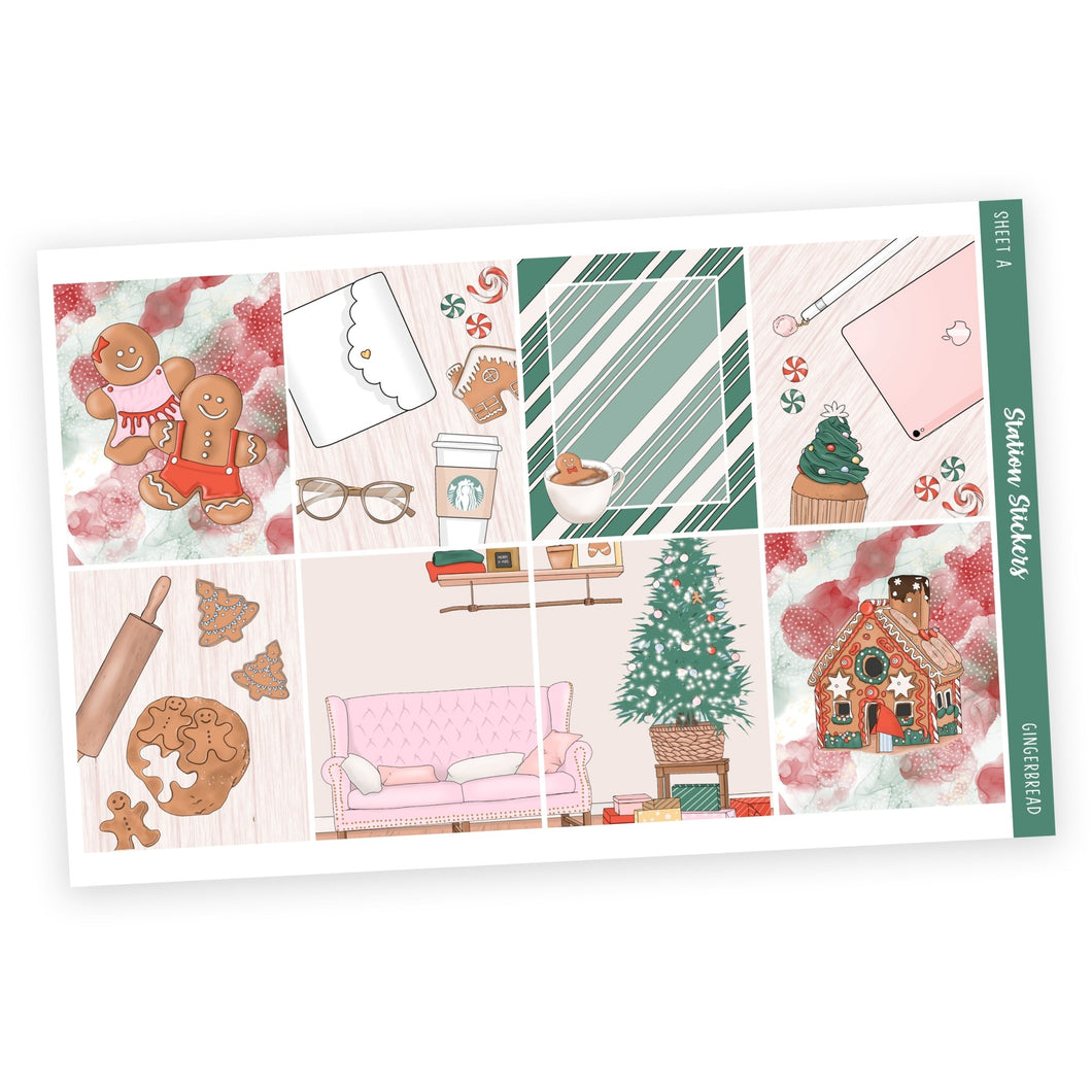 WEEKLY STICKER KIT • GINGERBREAD - Station Stickers