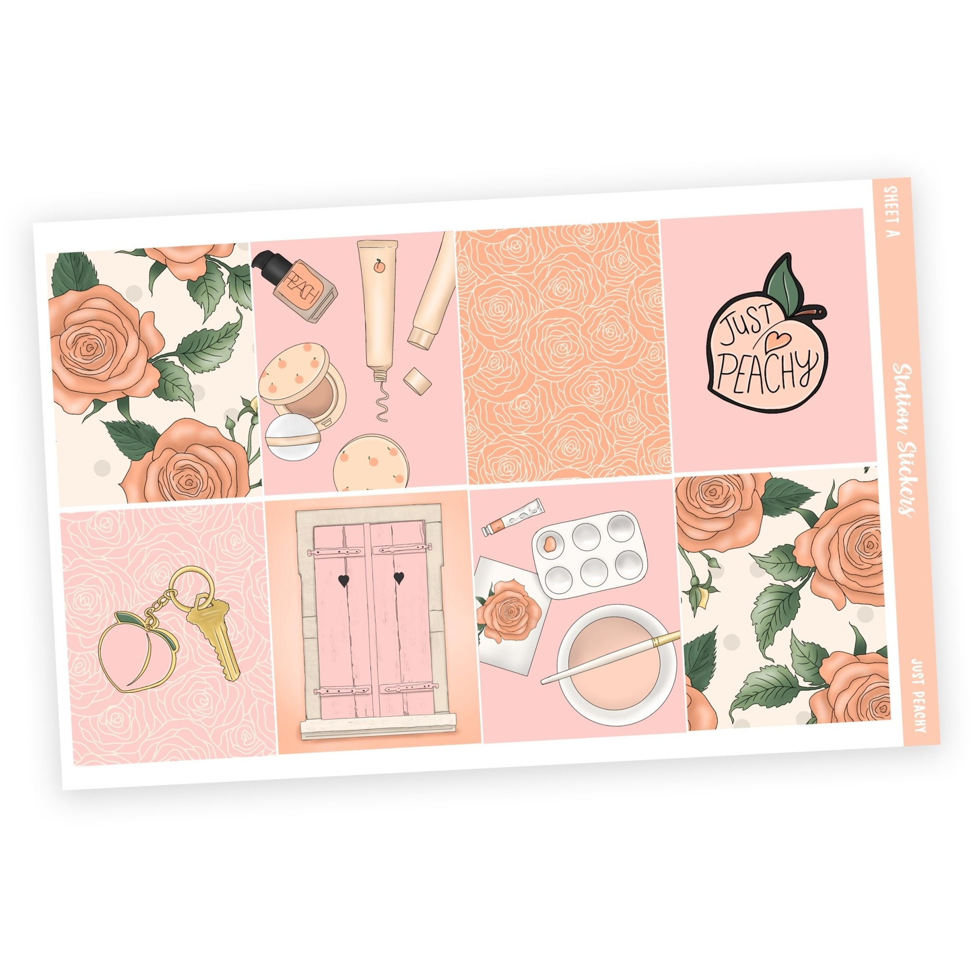 WEEKLY STICKER KIT • JUST PEACHY - Station Stickers