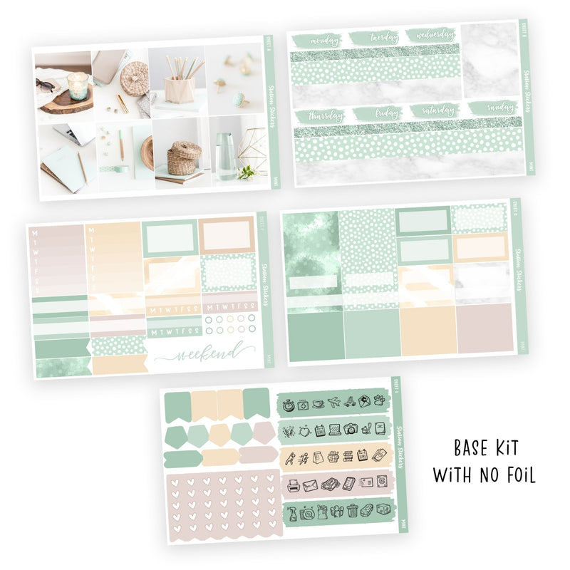 WEEKLY STICKER KIT • MINT - Station Stickers
