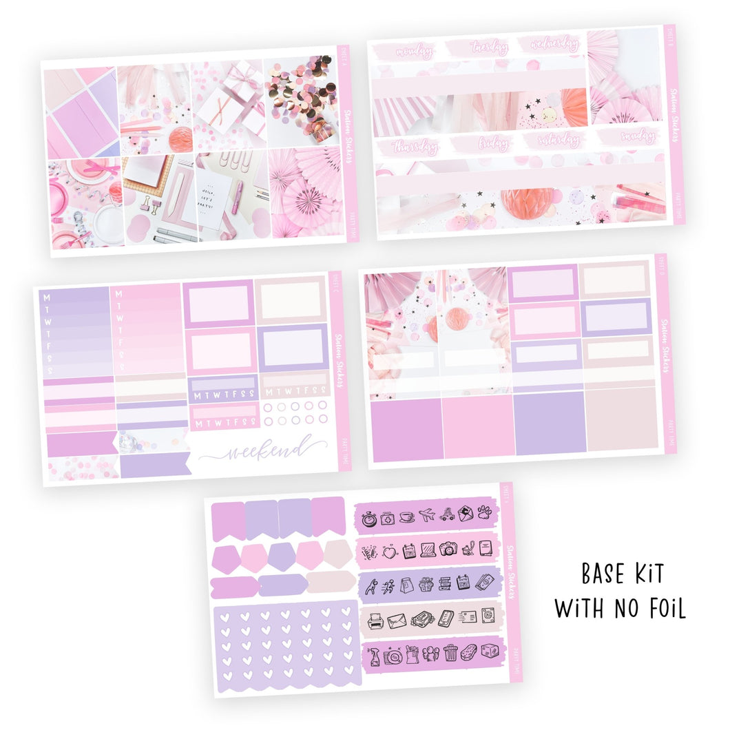 WEEKLY STICKER KIT • PARTY TIME - Station Stickers