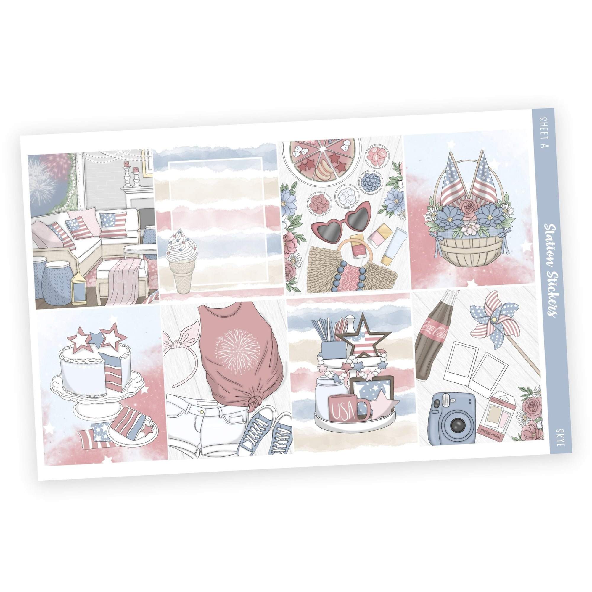 WEEKLY STICKER KIT • SKYE - Station Stickers