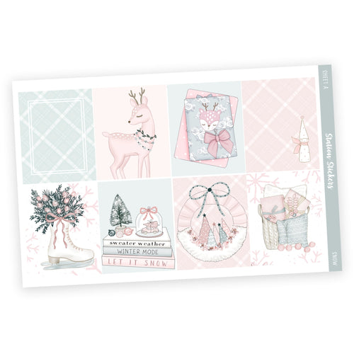 WEEKLY STICKER KIT • SNOW [AVAILABLE 11/27] - Station Stickers