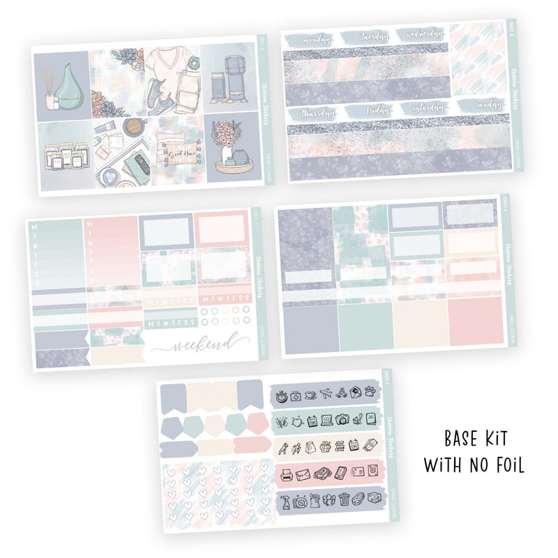 WEEKLY STICKER KIT • SPRING CLEANING-Station Stickers
