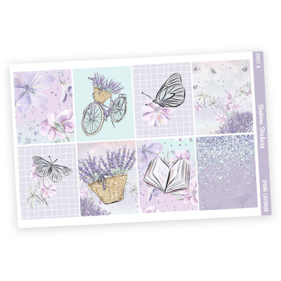 WEEKLY STICKER KIT • SPRING LAVENDAR-Station Stickers