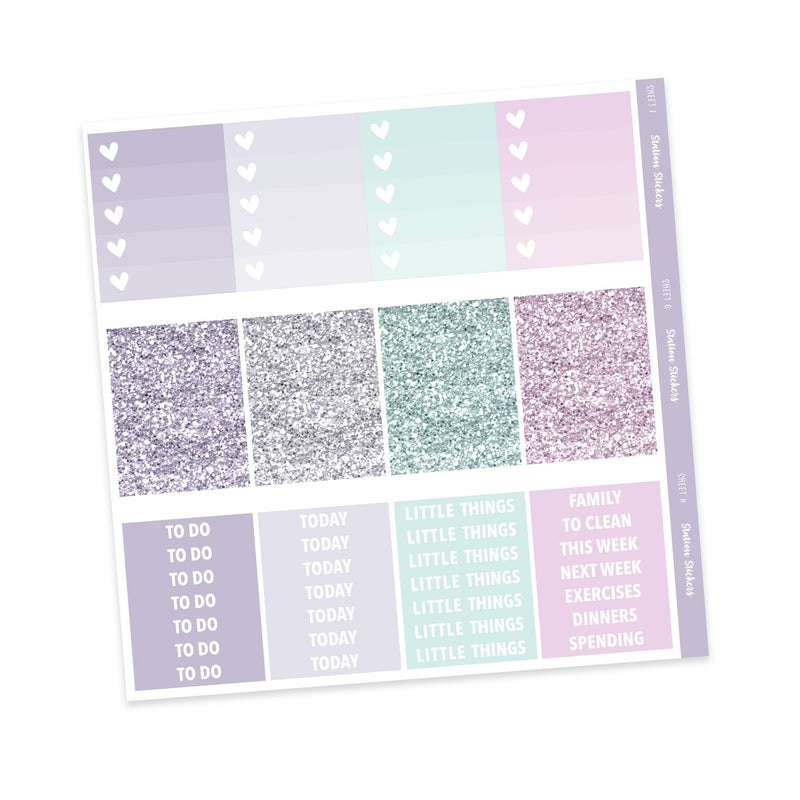 WEEKLY STICKER KIT • SPRING LAVENDER • ADD ON'S-Station Stickers