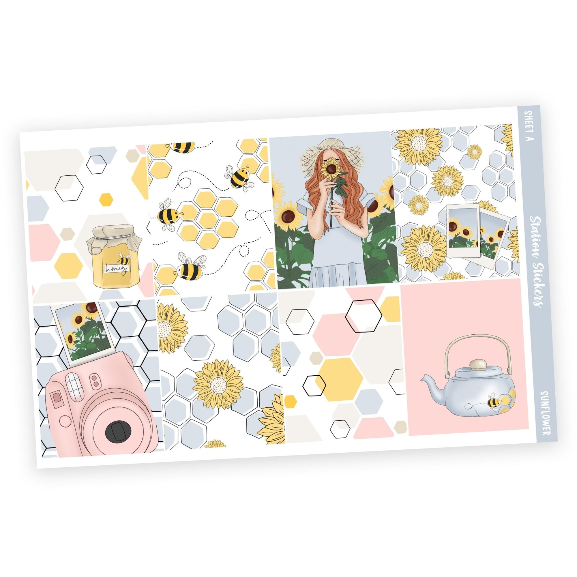 WEEKLY STICKER KIT • SUNFLOWER - Station Stickers