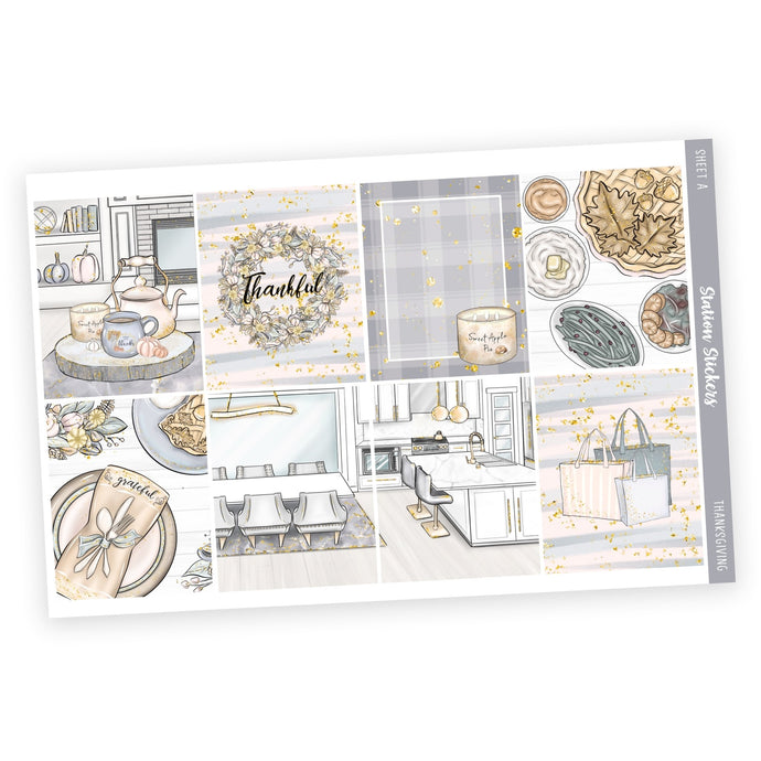 WEEKLY STICKER KIT • THANKSGIVING - Station Stickers
