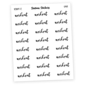 WORKOUT • SCRIPTS - Station Stickers
