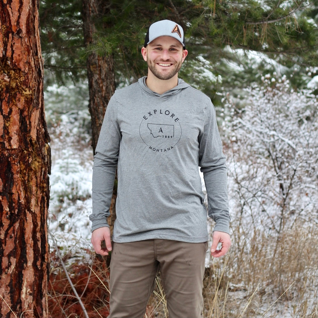 Explore Montana Compass A Men's Lightweight Hoodie