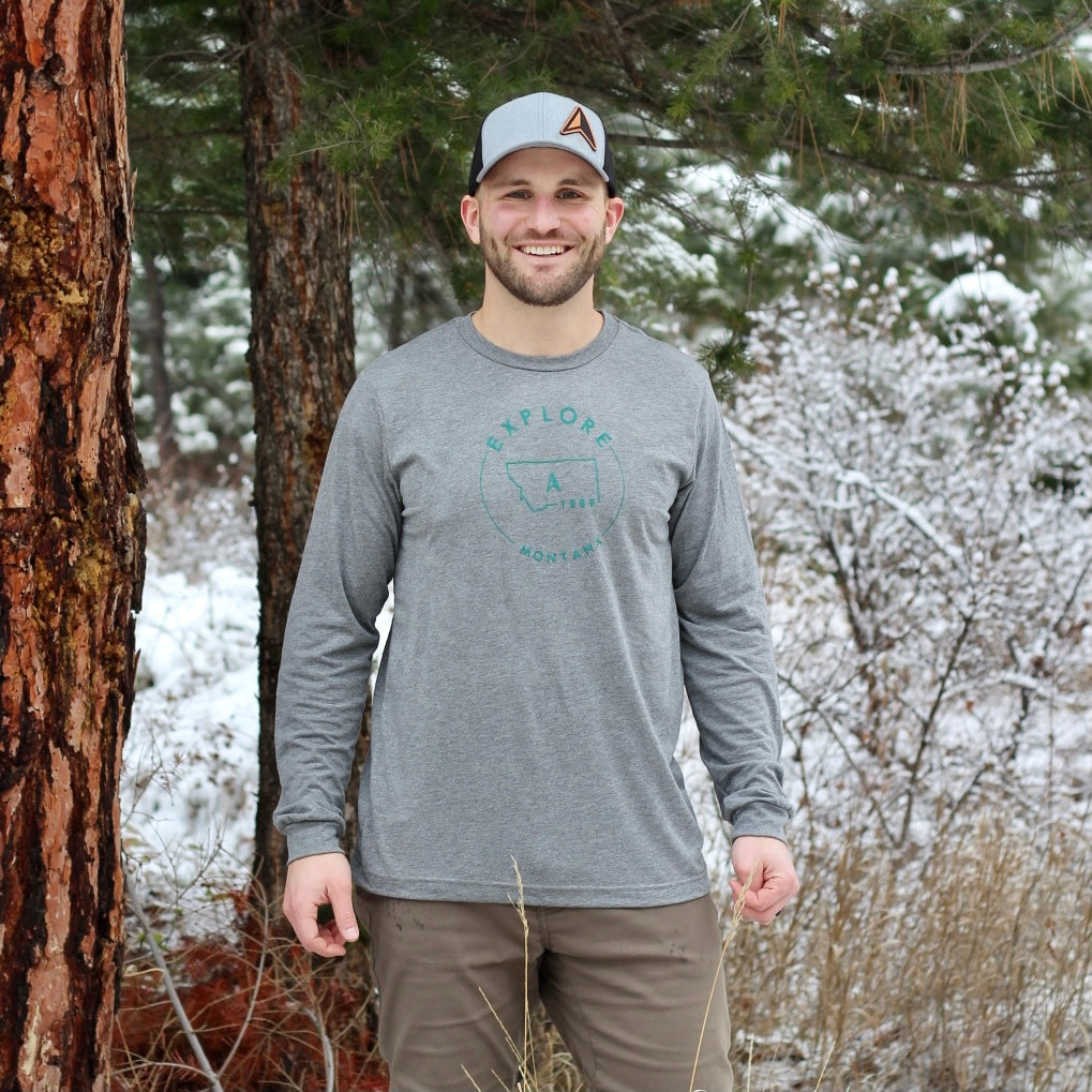 Explore Montana Compass A Men's Long Sleeve Tee