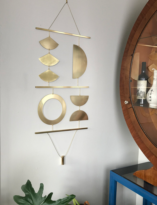 Quadrant Wall Hanging in Brass