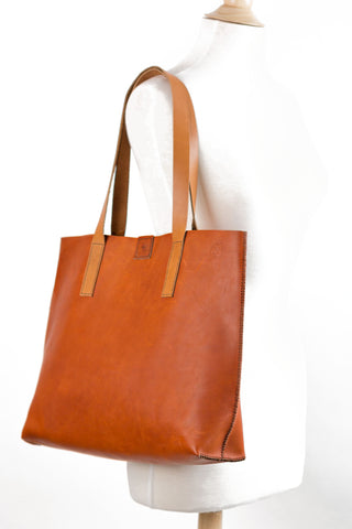LEMUS LEATHER GOODS tapered tote