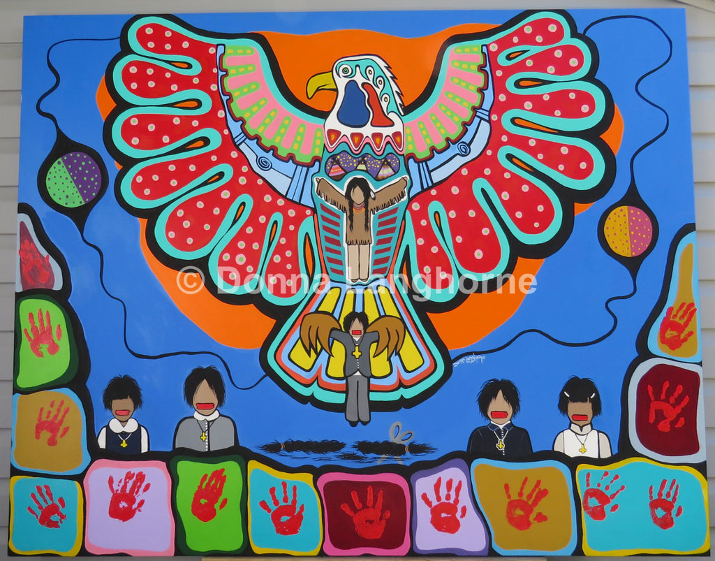 Love [Eagle]: For Residential School Survivors - colouringitforward
