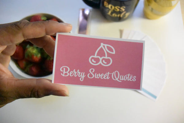 Berry Sweet Quotes