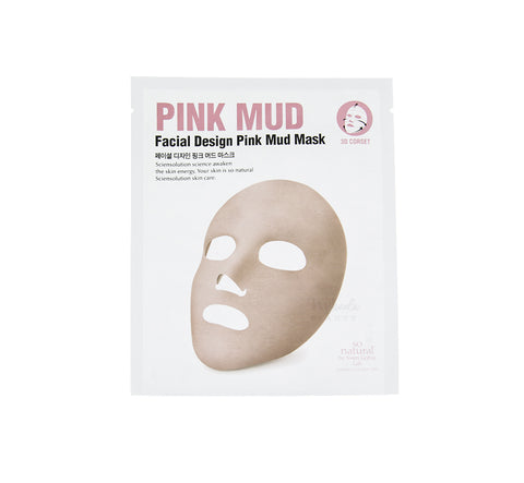 SO NATURAL Facial Design Deep Pink Mud Mask | Mikaela Beauty Canada