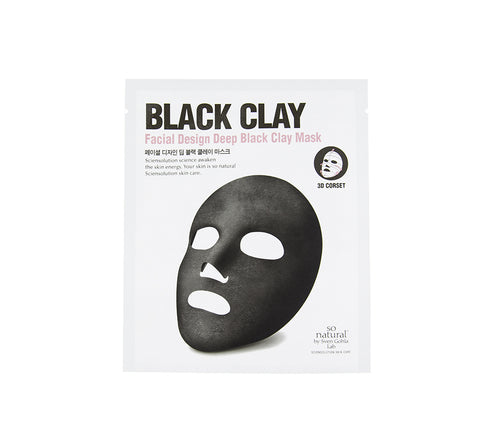 SO NATURAL Facial Design Deep Black Clay Mask | Mikaela Beauty Canada