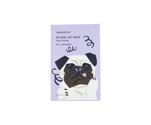 INNISFREE My Real Pet Mask - Pug | Canada  | Mikaela Beauty