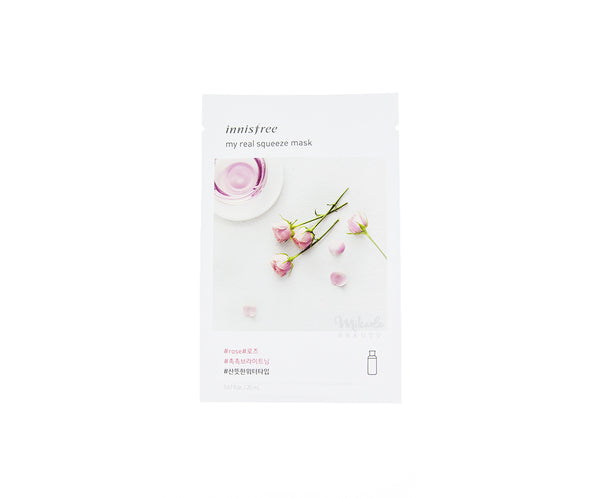 INNISFREE My Real Squeeze Mask Rose | Korean Skincare Canada Mikaela