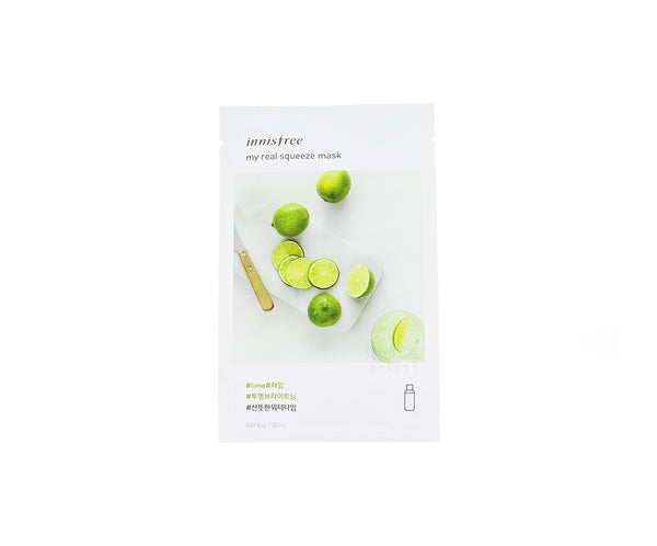 INNISFREE My Real Squeeze Mask Lime | Korean Skincare Canada Mikaela