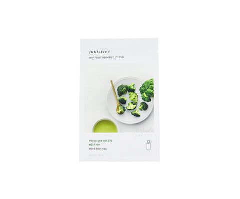 INNISFREE My Real Squeeze Mask Broccoli |  Korean Skincare Canada