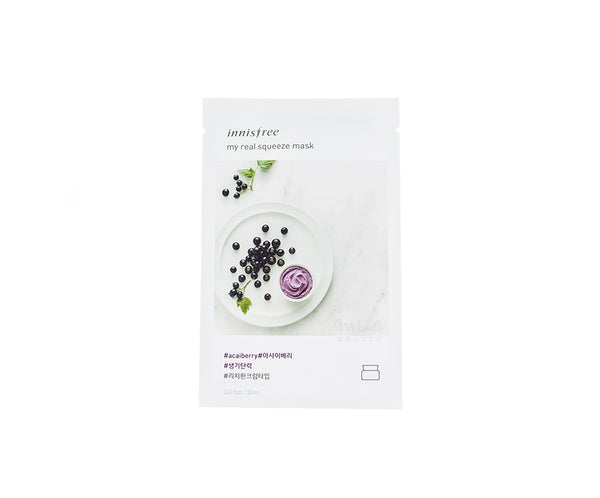 INNISFREE My Real Squeeze Mask Acai Berry | Korean Skincare Canada