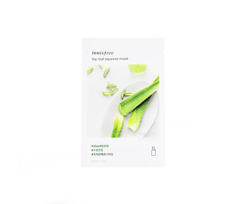 INNISFREE My Real Squeeze Mask Aloe | Korean Skincare Canada