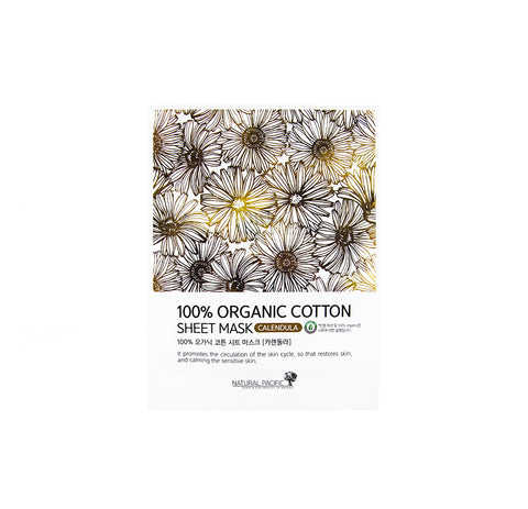 NATURAL PACIFIC 100% Organic Cotton Mask Calendula | Canada | Mikaela