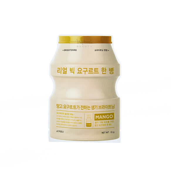 A'PIEU Real Big Yogurt One Bottle Mango | Korean Skincare Canada