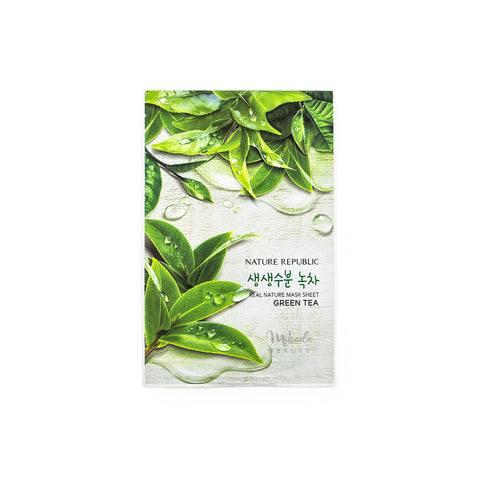 NATURE REPUBLIC Real Nature Mask Green Tea Korean Skincare Canada