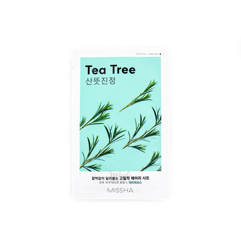 MISSHA Airy Fit Sheet Mask Tea Tree Korean Skincare Canada | Mikaela