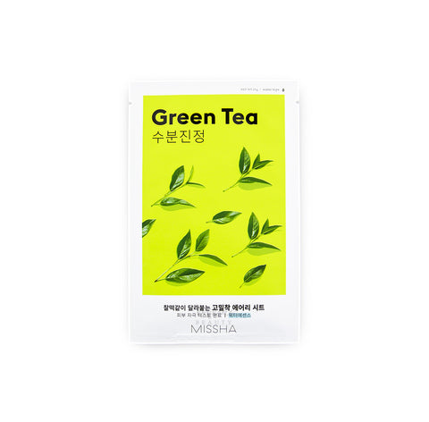 MISSHA Airy Fit Sheet Mask Green Tea Korean Skincare Canada | Mikaela