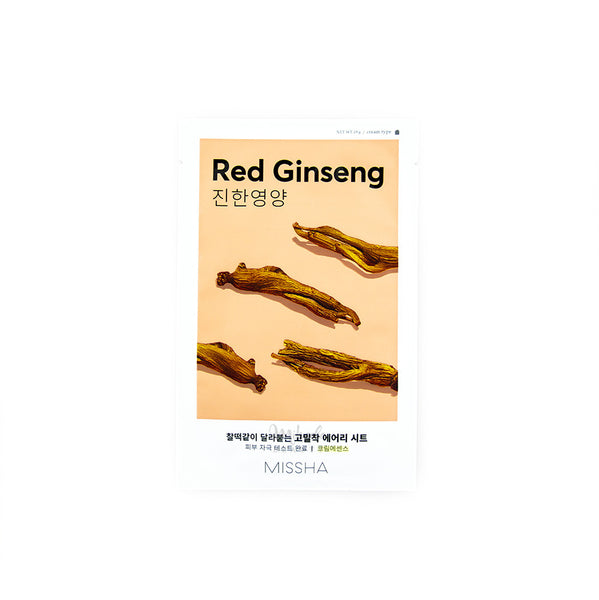 MISSHA Airy Fit Sheet Mask Red Ginseng Korean Skincare Canada Mikaela