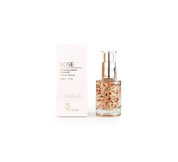 9WISHES Rose Capsule Essence Canada | Korean Skincare | Mikaela Beauty