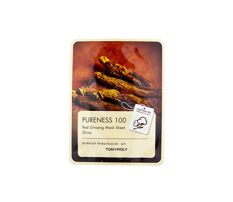 TONYMOLY Pureness 100 Red Ginseng Mask | Korean Skincare Canada