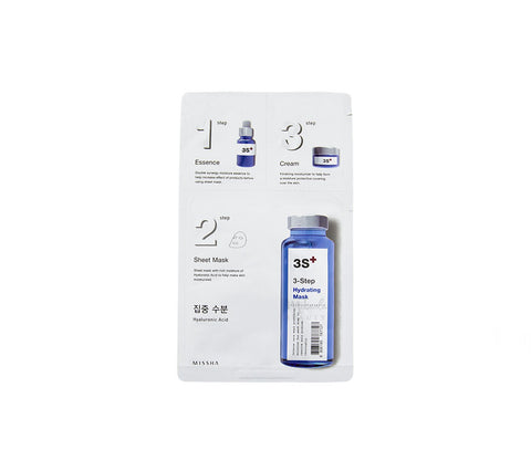MISSHA 3-Step Hydrating Mask Hyaluronic Acid | Korean Skincare Canada