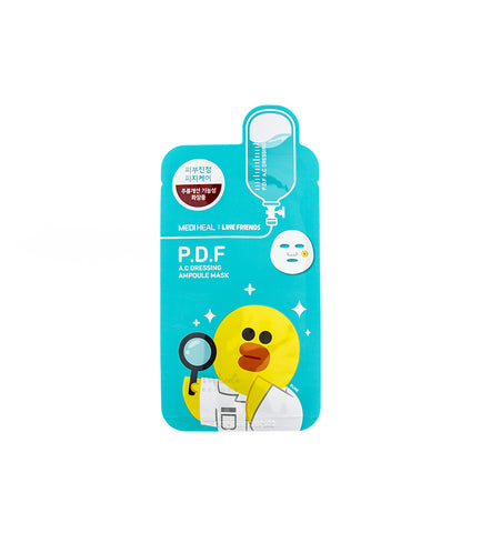 MEDIHEAL Line Friends Mask P.D.F A.C Dressing | Korean Skincare Canada