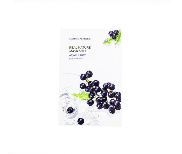 NATURE REPUBLIC Real Nature Mask Acai Berry Canada | Korean Skincare