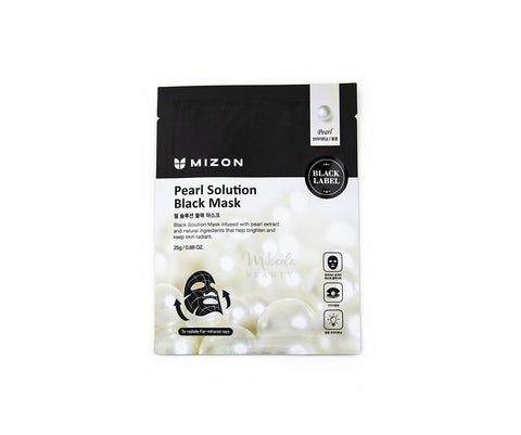 MIZON Pearl Solution Black Mask Canada | Korean Skincare Mikaela