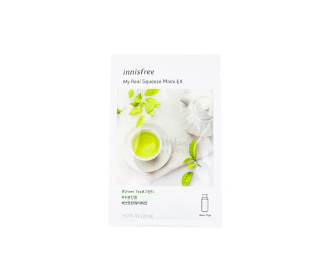 INNISFREE My Real Squeeze Mask EX Green Tea Canada Korean Skincare