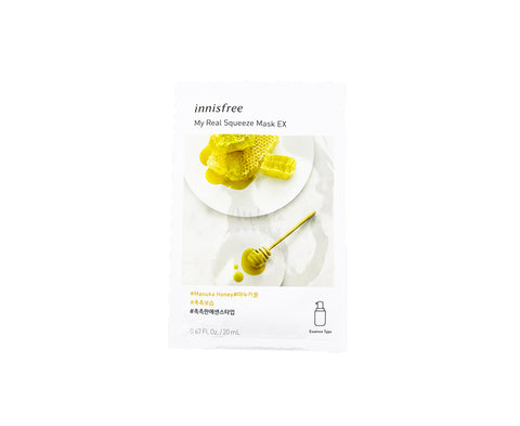 INNISFREE My Real Squeeze Mask EX Manuka Honey Canada Korean Skincare