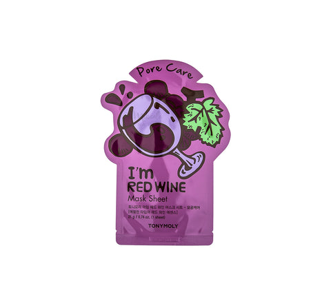 TONYMOLY I'm Red Wine Mask Sheet (Pore Care) | Korean Skincare Canada