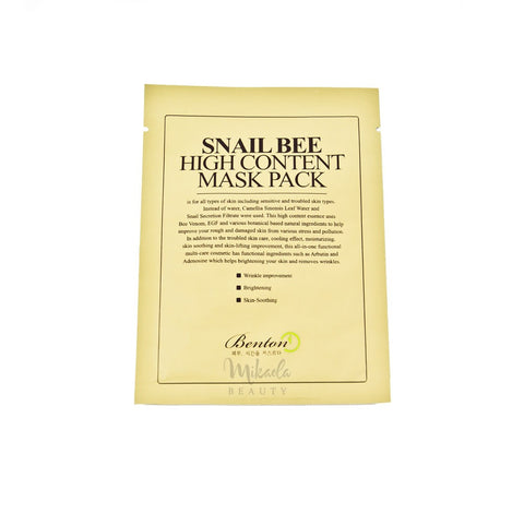 BENTON Snail Bee High Content Mask pack | Canada | Mikaela Beauty