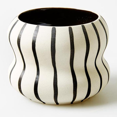 Double Black Stripe Pocket Planter