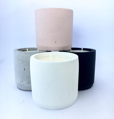 Duo Concrete Soy Candle